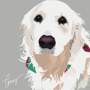 digital pet illustrations