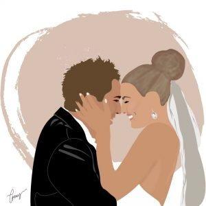 wedding digital illustration